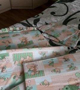 Бортики для детской кроватки+постельное белье