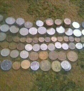 Монеты.Грампластинки.
