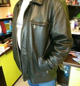 Торг. Куртка кожаная с подстёжкой р.52-54