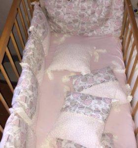 Бортики в кроватку ручной работы