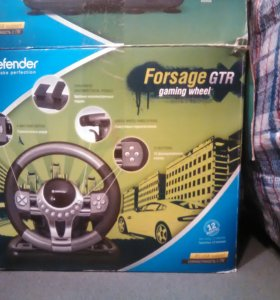 Игровой руль Defender Forsage GTR 1600 ₽