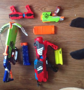 Пистолеты нёрф и BOOM CO