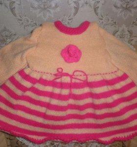 Свяжу детские платья на заказ