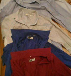 Рубашки 7шт+бонус Брюки за 400 руб.12-14лет