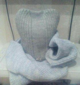 Шапка+шарф(зима)