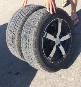 Продам 2 колеса(резина с дисками)