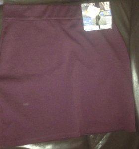 Новая трикотажная юбка