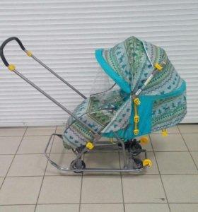 Санки коляска умка 3-1 скандинавский стиль