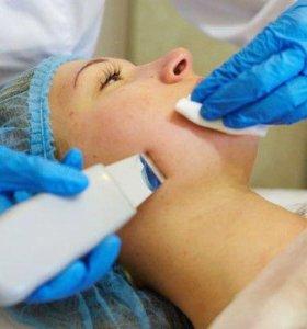 Косметолог, чистка лица