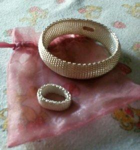 Комплект, браслет и кольцо