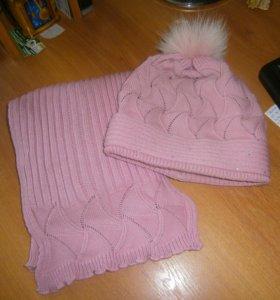 шарф и шапка на осень-зиму