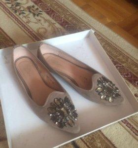 Туфли женские замшевые разм 40