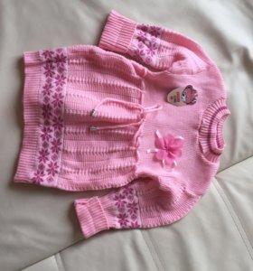 Новое тёплое вязаное платье