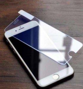 Стекло защитное на iPhone 4/4s, 5/5s, 6/6s и др.