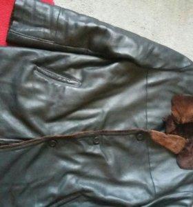 Теплая кож.куртка