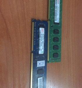 DDR 3 2 штуки по 2gb