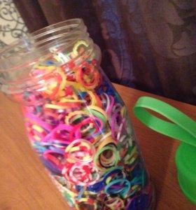 Набор разноцветных резинок