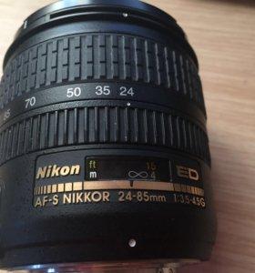 Объектив Nikon 24-85mm. + фотоаппарат + сумка