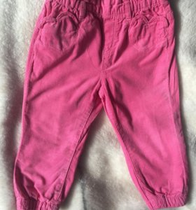 Вельветовые брюки/ штаны 86