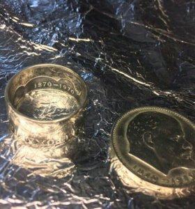 Кольцо из рубля