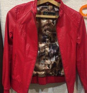 Кожаная куртка с перфорацией.