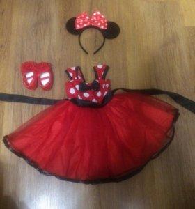 Детское платье Минни маус