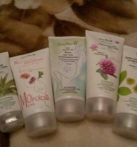 Набор кремов для тела и лица Green mama