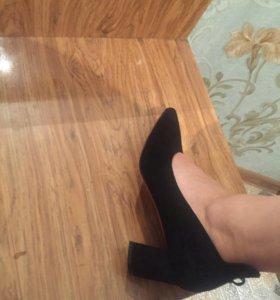 Туфельки натуральный кожа замши