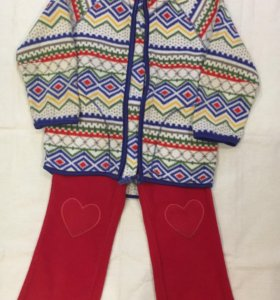 Флисовые штанишки и кофта