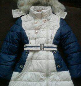 Пальто зимнее д/девочки