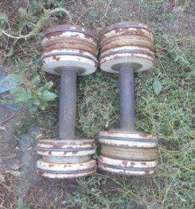 Разборные гантели 13 кг.