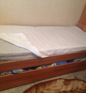 1-спальная кровать размер 0,8 х 2,0