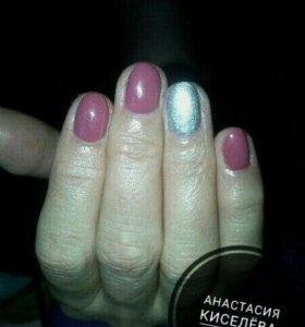 Покрытие натуральной ногтейвой пластины гель лаком