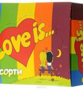 Коробка жвачек Love is ассорти