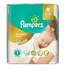 Подгузники Pampers Premium Care 1 (2-5 кг) 22 шт