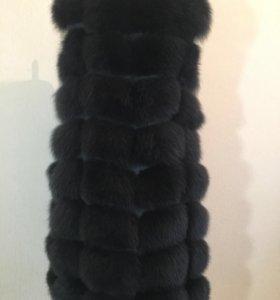 Жилет песцовый 90 см