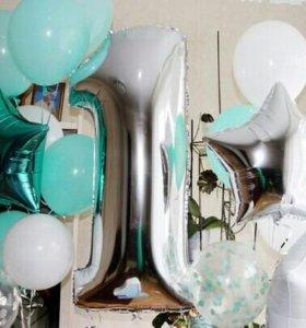 Фольгированные шары 4 шт еденичка