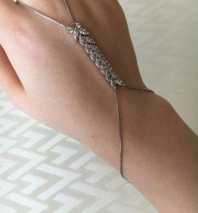Серебряный слейв браслет