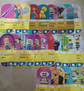 Карточки Миньоны с Магнита