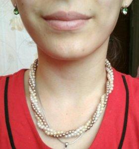 Ожерелье цепочка бусы