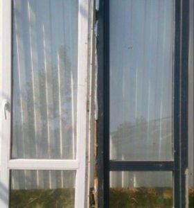 Металлопластиковые двери 2300*750 профиль 60