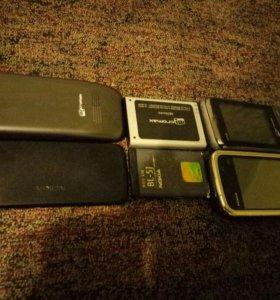 2 телефона. 1-сенсорный,2-кнопочный микромакс