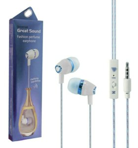 Гарнитура Aroma great sound fashion white/blue