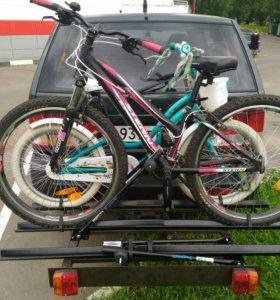 Багажник на три велосипеда на фаркоп