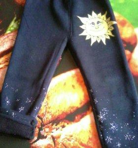 Теплые штанишки на флисе на 2-4 г