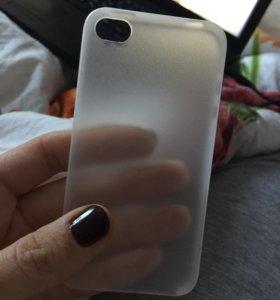 Чехол прозрачный на айфон 4s