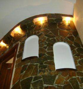 Окраска стен потолков декоративная отделка