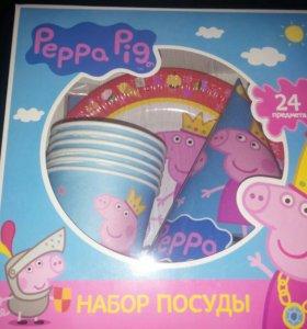 Набор посуды Свинка Пеппа