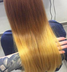 Окрашивание волос Ollin
