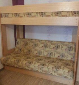 Двухярусный диван кровать